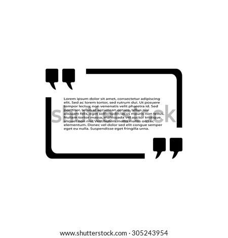 Quotation Text Bubble - stock vector