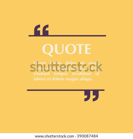 Quote Blank Template Design Elements Circle Stock Vector 383486035