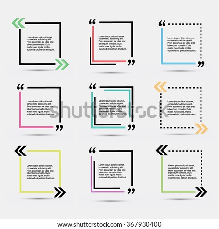quote blank template vector eps 10 stock photo photo vector