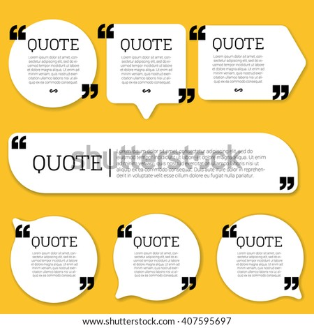 Quote. Flat design element set.