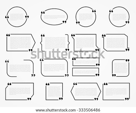 Quote Frames Blank Template Print Information Stock Vector HD ...
