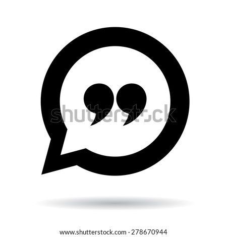 Quote icon - stock vector