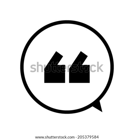 Quote icon vector - stock vector