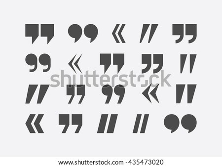 Quote marks vector. Quote marks set. Quote marks collection. Quote marks abstract. Quote marks design. Quote marks image. Quote marks illustration. Quote marks flat. Quote marks typography. Quote mark - stock vector