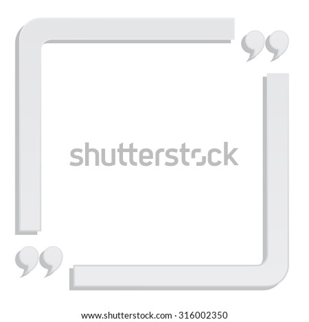 quote paper box frame background - stock vector
