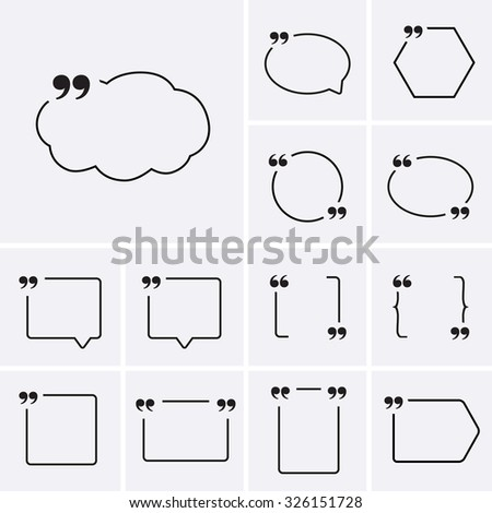Quote Sign Icons - stock vector
