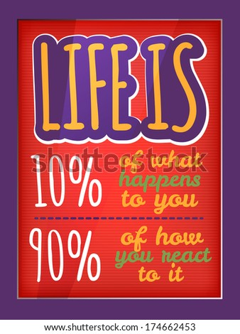 Quote typographic decorative colorful poster