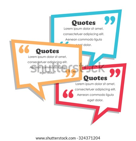 quotes design template - stock vector