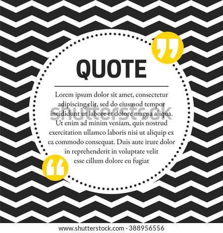 Quotes Design Template Chevron Background Stock Vector 388956556 ...