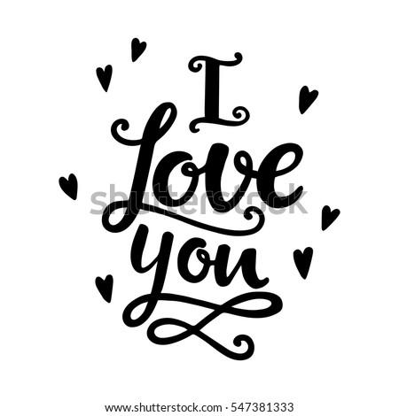 quotes i love you valentine lettering のベクター画像素材
