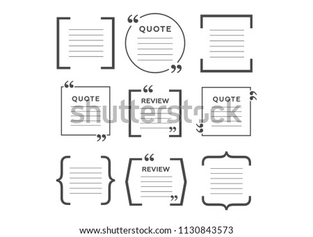 Quotes Icon Vector Set Quote Marks Stock Vector 60 Awesome Get Quote Icon