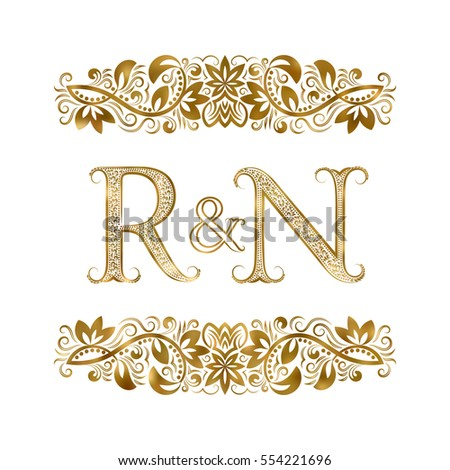 R n vintage initials logo symbol stock vector royalty free r and n vintage initials logo symbol the letters are surrounded by ornamental elements thecheapjerseys Images