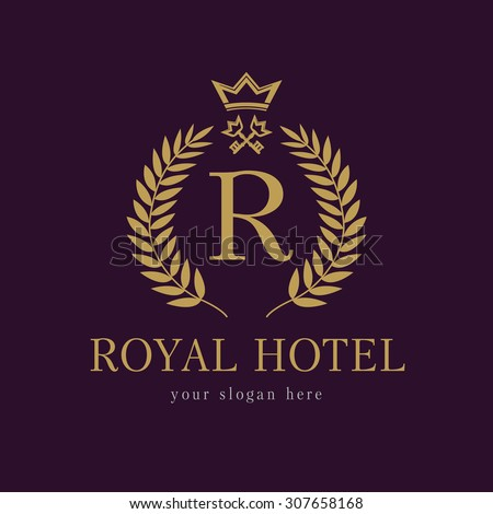 Royal logo stock images royalty free images vectors for Luxury hotel company