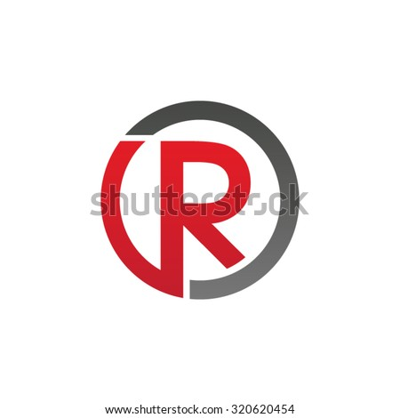 Red Circle With R Logo R initial circl...