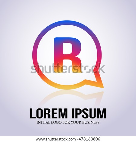 R letter colorful on circle comment stock vector royalty free r letter colorful on circle comment inspired by instagram new icon initial logo modern altavistaventures Gallery