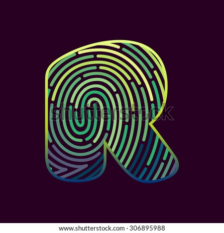 fingerprint scan icon vector stock vector 353193023. Black Bedroom Furniture Sets. Home Design Ideas