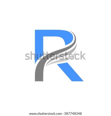R logo vector element - stock vector