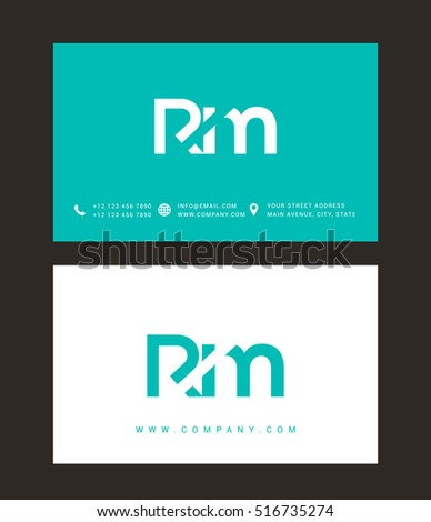 R M Letters Logo Business Card Stock Vector 516735493 - Shutterstock