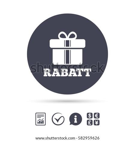 Rabatt Discounts German Sign Icon Gift Stock Vector 582959626
