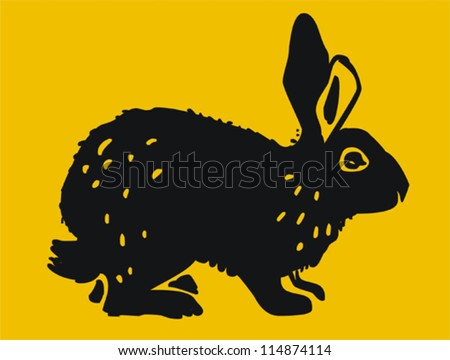 Rabbit - stock vector
