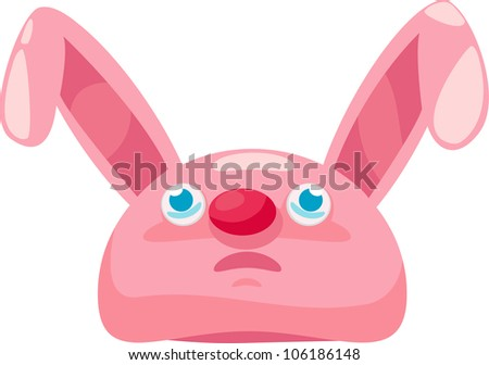rabbit hat vector illustration - stock vector
