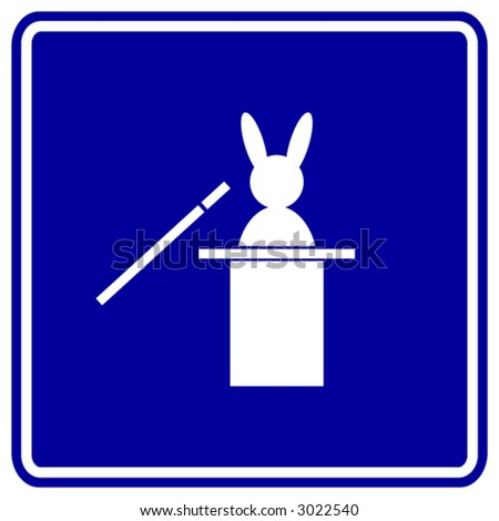 rabbit out of hat magic trick symbol