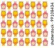 Rabbit pattern - stock vector