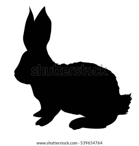 Black Silhouette Image Puppy Sitting Facing Stock Vector ...