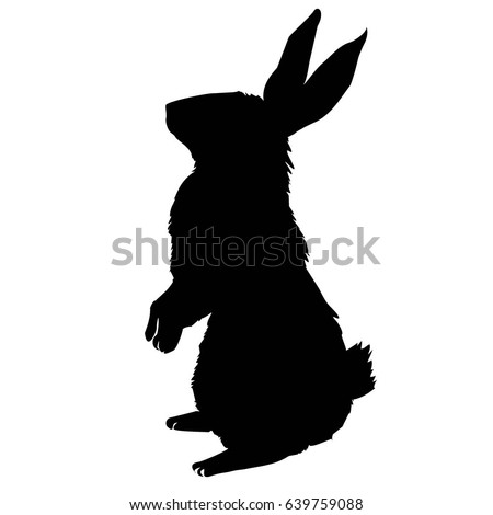 Rabbit Silhouette Stock Images, Royalty-Free Images ...
