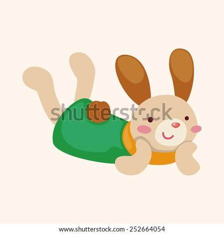 rabbit theme element vector,eps - stock vector