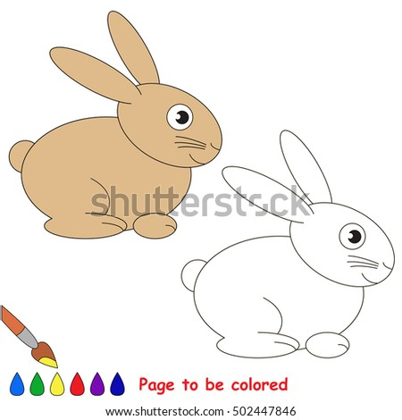 Rabbit To Be Colored Coloring Book Educate Preschool Kids With Easy Kid Educational Gaming