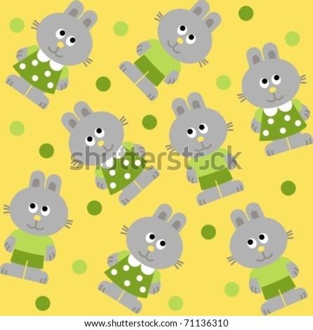 Rabbits - stock vector