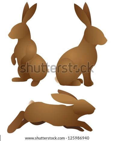 rabbits-Set - stock vector