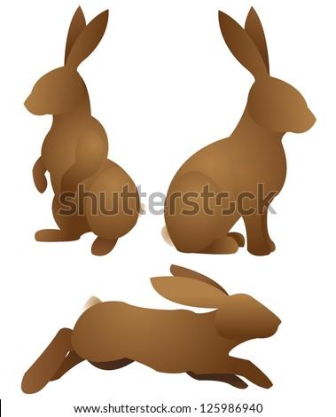rabbits-Set - stock vector