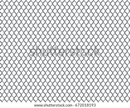 Rabitz grid seamless pattern. Background with repeatable metal netting