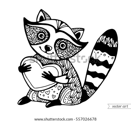 raccoon tune coloring pages - photo#37
