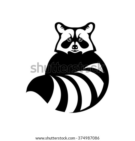 Raccoon Logo Stock Vector 374987086 - Shutterstock Raccoon Face Illustration