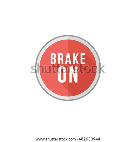 Race brake sign icon in flat color style. Sport transportation automotive auto car rally