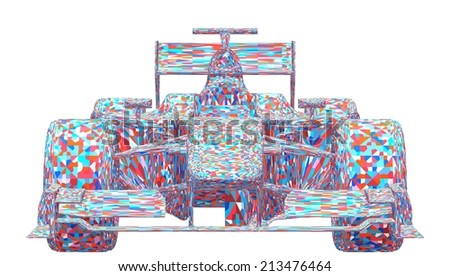 Race Car Colorful Vector 17 - stock vector