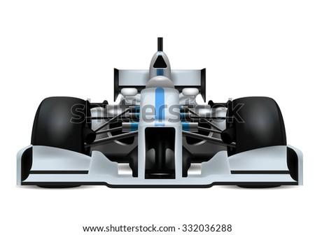 Race Car Realistic Concept / Race Car Icon Art / Race Car Icon EPS / Race Car Icon Ai / Race Car Icon Graphics / Race Car Isolated Icon - stock vector