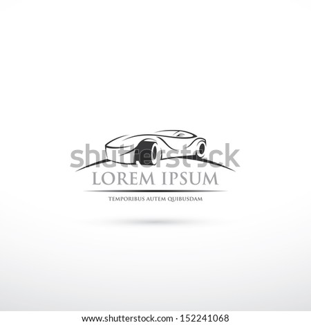 Race car symbol - vector illustration - stock vector