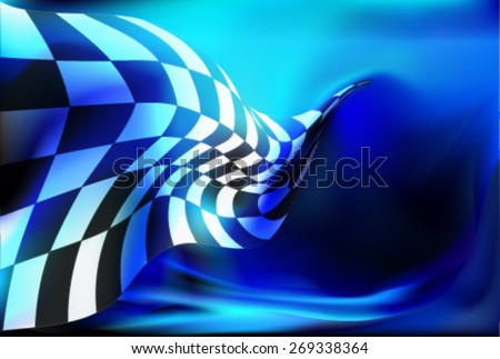 race, checkered flag background vector - stock vector