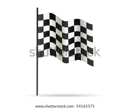 race flag - stock vector