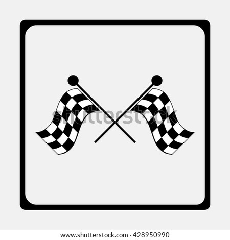 Race flag, finish illustration. - stock vector