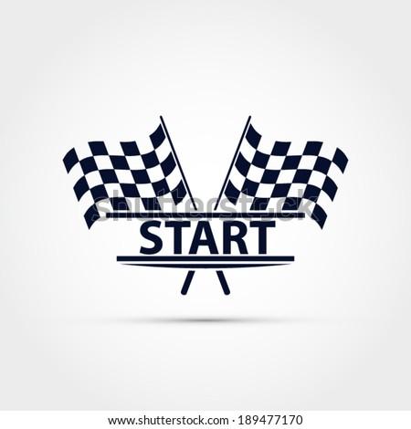 Race Start Clipart Race Flag Vector Start