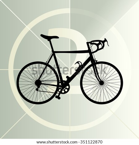Race road bike bicycle icon banner vector abstract illustration concept - stock vector