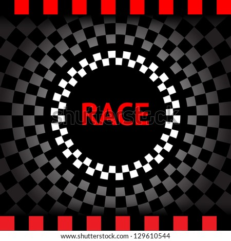Race-square-black-background, vector illustration 10eps - stock vector