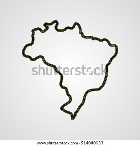 Race track similar to the map of Brazil.