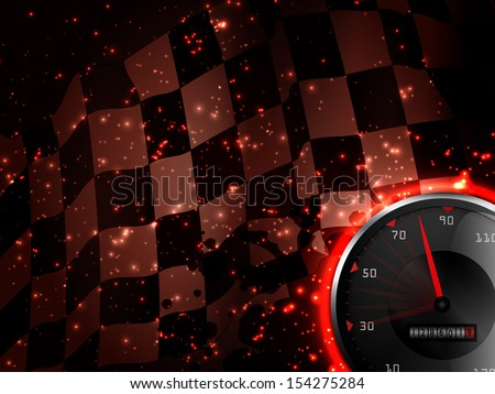 Racing background with speed tachometer  - stock vector