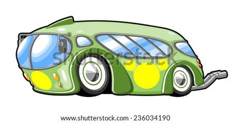 racing bus - stock vector